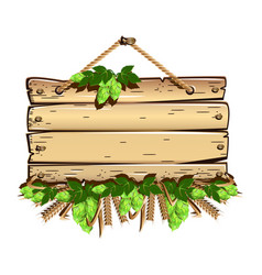 old wooden empty frame vector image