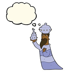 one of the three wise men with thought bubble vector image