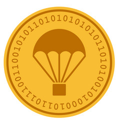 Parachute digital coin vector