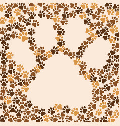 paws animal cat dog background frame for text vector image
