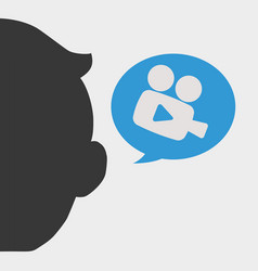 People design media icon isolated vector