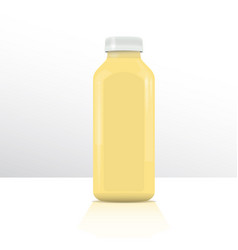 plastic bottle for beverages or medicine plastic vector image