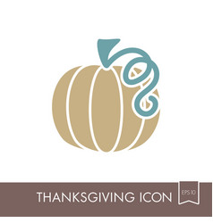 pumpkin icon harvest thanksgiving vector image