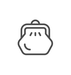 Purse line icon vector