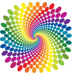 Rainbow swirl abstract vector