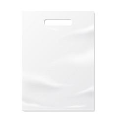 realistic folded paper bag mock up vector image