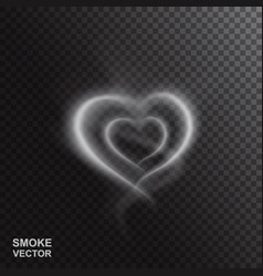 Realistic smoke heart vector