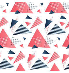 Red and grey triangles vector