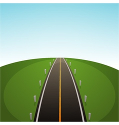Road Over Field vector