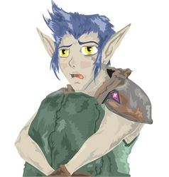 Scared elf vector image