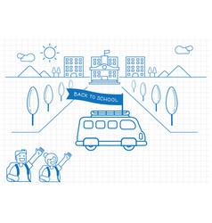 school bus back to school background design vector image