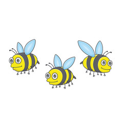 set bees vector image