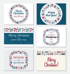 Set christmas greeting card vector