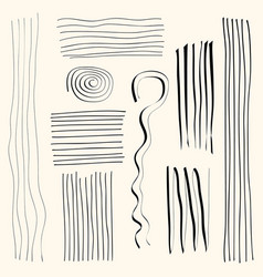 set of abstract shapes and lines design elements vector image