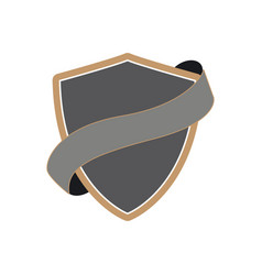 shield with ribbon image vector image