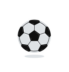 soccer ball icon isolated on white flat design vector image