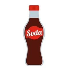 soda bottle isolated icon design vector image