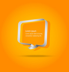 speech bubbles on orange background vector image
