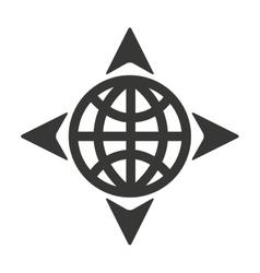 Sphere arrows globe gps vector