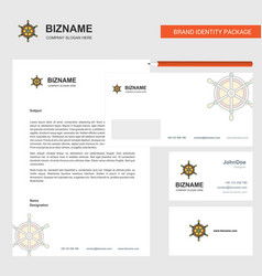 steering business letterhead envelope and vector image