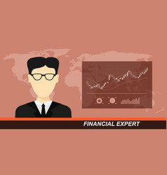 stock market and financial expert vector image