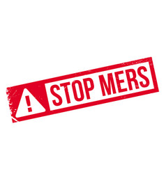Stop mers rubber stamp vector
