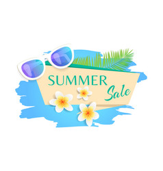 Summer sale summertime banner vector