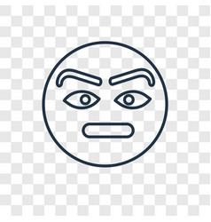 suspicious concept linear icon isolated on vector image