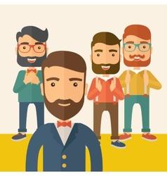 Team building vector image