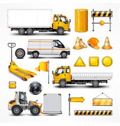 Transportation elements vector