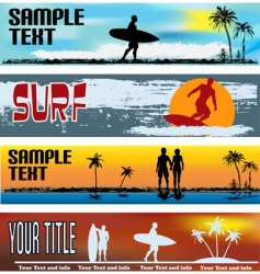 tropical beach web banner templates vector image