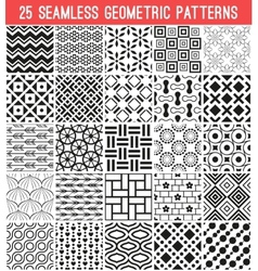 Universal different seamless patterns vector image