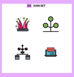 Universal icon symbols group 4 modern vector