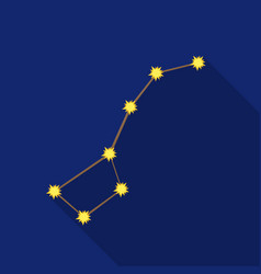 ursa major icon in flate style isolated on white vector image