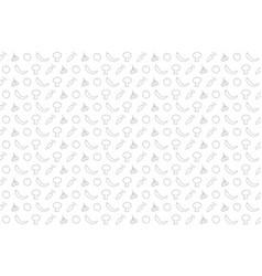 Vegetable pattern design vector