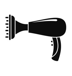 Warm hair dryer icon simple style vector