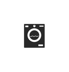 washing machine icon flat cartoon washer vector image