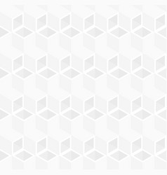 white cubes pattern seamless background vector image
