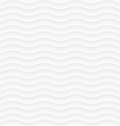 White seamless pattern of abstract waves vector image