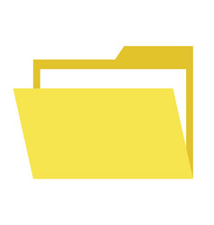 yellow paper document online web button isolated vector image