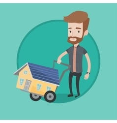 Young man buying house vector
