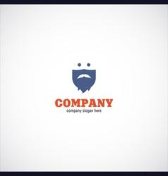 beard man company logo vector image