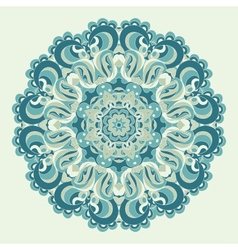 Beautiful blue ornament background vector image vector image