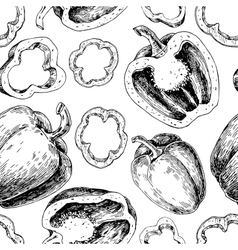 Pepper hand drawn seamless pattern vector image vector image