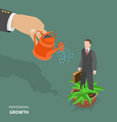 professional growth flat isometric low poly vector image