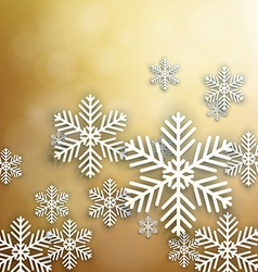 Set of golden christmas background vector image