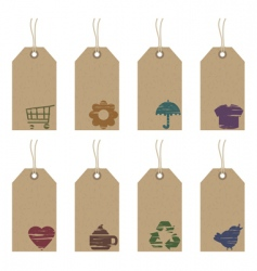tags with icons vector image