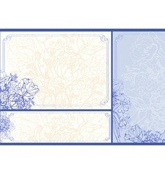 Three Floral frames vector image vector image