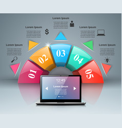 device set of realistic computer monitor laptop vector image