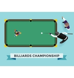 billiard game champion vector image vector image